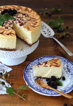 Blackberry Swirl Cheesecake recipe from PBS Food #AETN #BeMore