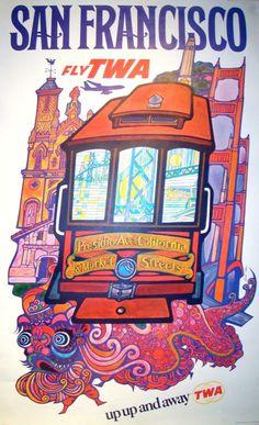 San Francisco! Love This Vintage Poster