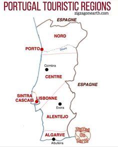 Road Trip Portugal Map Portugal destinations