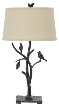 Cal Lighting BO-2301TB Medora 1 Light Table Lamp with 3-Way Switch tropical-table-lamps