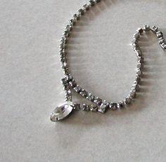 Vintage Beautiful 1940s CORO Rhinestone Necklace 10% Discount by BESTBUYONLINES, $27.00