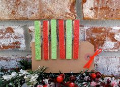 Red and Green Decorative Magnetic by PurplePirateStudios on Etsy