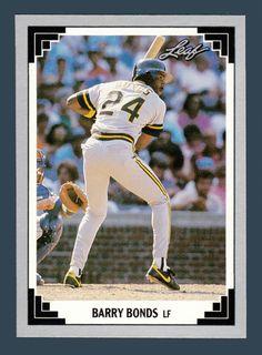 Barry Bonds # 261 - 1991 Leaf Baseball