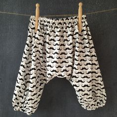 Moustache Harem Pants Baby Boy Toddler - by cocoandmoose on madeit