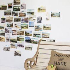 Vintage Postcard Living Room