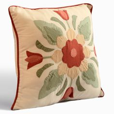 June Cotton Throw Pillow