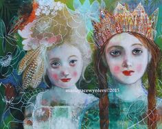 Warrior Sisters- mounted fine art reproduction by Maria Pace-Wynters
