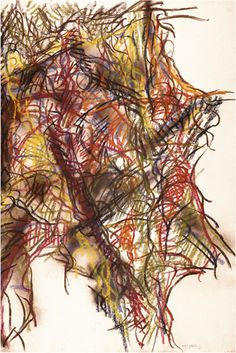 Jean Paul Riopelle, Sans titre, 1968, pastel sur papier, 92,3 x 60,9 cm Follow the biggest painting board on Pinterest www.pinterest.com/atelierbeauvoir