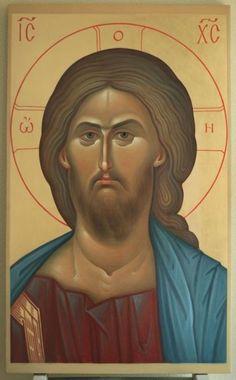 Christ the Savior icon Religious Icons, Religious Art, Orthodox Catholic, Christ Pantocrator, Russian Icons, Byzantine Icons, Art Icon, Orthodox Icons, Sacred Art