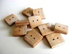 10 x  Birch Wood Buttons Handmade by Trendsandgoods on Etsy, $6.00