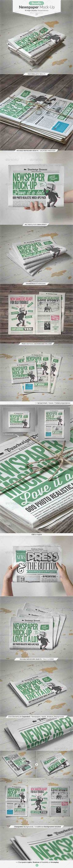 HeroGfx – Newspaper Mock-up Bundle » Free Special GFX Posts Vectors AEP Projects PSD Web Templates   HeroGFX.com