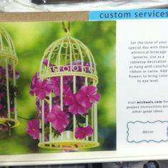 Cute birdcage decor