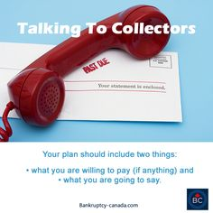 How to talk to creditors and collection agencies about your financial situation and how to ask for debt relief. #collection #debtfreein30 #debt bankruptcy-canada.com