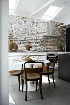 How to decorate the kitchen wall? One of the beneficial we can do is applying kitchen wallpaper. With this article will give some kitchen wallpaper ideas. Kitchen Wallpaper, Brick Wallpaper, Wallpaper Ideas, Backsplash Wallpaper, Wallpaper Borders, Prepasted Wallpaper, Wallpaper Patterns, Wallpaper Murals, Wallpaper Designs