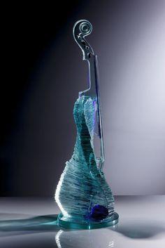 "*Art Glass - ""Musical Twist"" by Peter Newsome"