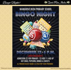 Bingo flyer bingo night poster template church school community