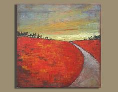 painting abstract painting landscape sunset by SageMountainStudio, $169.00