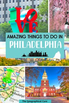Planning a vacation in Pennsylvania? Philadelphia is no doubt on your bucket list. If you're wondering what to do and see in Philadelphia, this Philadelphia itinerary has you covered. It takes you to all the must see sites, historic landmarks, and wonderful museums in Philadelphia. Philadelphia is a great destination for history buffs, art lovers, and foodies. Philadelphia Itineraries | Best Things To Do and See in Philadelphia | Museums in Philadelphia | Philadelphia Landmarks | Best US… States In America, North America, Usa Travel Map, East Coast Usa, Philadelphia Museums, Road Trip Destinations, United States Travel, Culture Travel, Life Inspiration