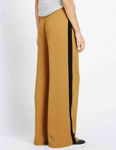 Wide Single Side Stripe Trousers