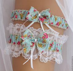"""Купить Подвязка для невесты свадебная """"Кантри""""-комплект - подвязка, подвязка заказать, подвязка невесты"""