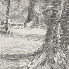 Landscape - Anaïs Van Goethem - Pencil on gessoed board - 10 x 10 cm - 2015