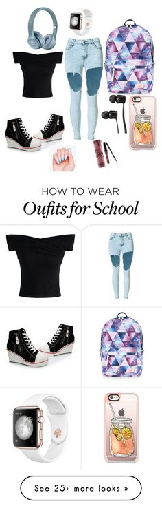 """back to school"" by summerislifexd on Polyvore featuring Chicwish, Accessorize, Vans, Casetify and Kylie Cosmetics"