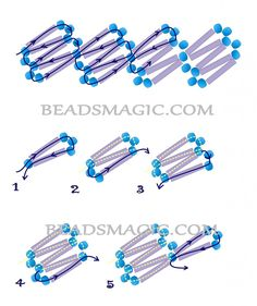 Free pattern for beaded necklace Tender Blue | Beads Magic