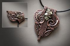 (46) Одноклассники  copper wire wrapped pendant  advanced wire wrapping