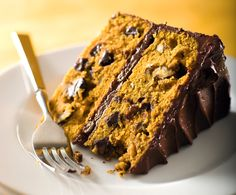 NYT Cooking: Chocolate-Pumpkin Layer Cake