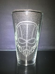Ant-Man and the Wasp, Ant Man Mask Customizable Etched Pint Glass Etched Glass, Glass Etching, Ant Man Mask, Wasp, Pint Glass, Customized Gifts, Birthday Gifts, Unique Gifts, Just For You