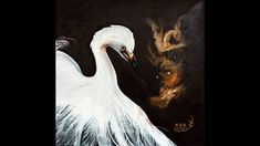 An oil painting demonstration in the style of Gary Jenkins. Oil on 12 x 12 linen canvas using Winsor Newton Artist Oil and Rosemary and Co brushes. Gary Jenkins, White Egret, Painting Videos, Oil, Artist, Instagram, Artists