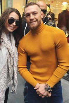 Conor McGregor wearing Gucci Cashmere turtleneck