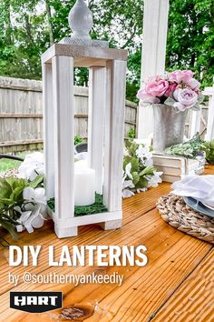 Diy Crafts For Home Decor, Diy Crafts Hacks, Tree Crafts, Fall Crafts, Christmas Crafts, Christmas Lanterns, Outdoor Christmas, Christmas Ideas, Diy Wood Projects