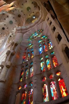 Gaudi, Sagrada Familia, Barcelona.(Last years of his life Gaudi devoted to the design). Still under construction. Completion ETA: 2026