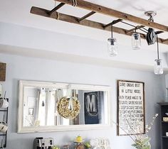 "If I just show you the ceiling - you won't see all the junk on my floor  said goodbye to our chalkboard wall and was immediately instructed by the 6 year old drill sergeant that she needs a new one "" stat "" and then she immediately asks "" what does stat mean ? ""  @redbrickmantle Tanis and Ashley @ashleysdecorspace_ asked me to share for some tags ❤️ thanks for thinking of me beautiful babes! I hope everyone is having the happiest Friday !! • • • • • • #eclecticflairfriday #widn #mysumme..."