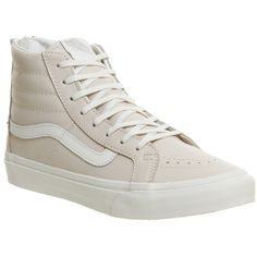 Vans Sk8 Hi Slim Zip ($115) ❤ liked on Polyvore featuring shoes, sneakers, hers trainers, trainers, whispering pink, zipper shoes, skate shoes, zip sneakers, pink shoes and retro sneakers