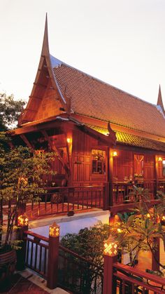 Ruen Thai Restaurant's hillside setting overlooks the sea. #Thailand