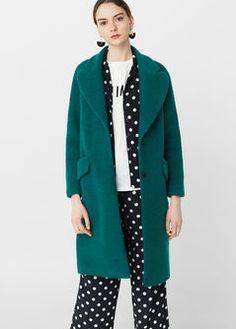 Abrigo lana textura