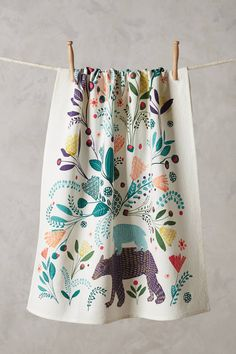Anthropologie Saga Dishtowel