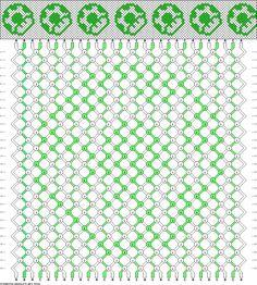 #38826 Mario One-Up Mushroom... friendship bracelet pattern