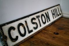 Vintage cast iron UK street sign by theUniqueMagpie on Etsy