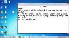 Make Money With Yahoo and Bing Media net In Urdu