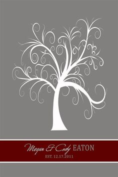 Thumbprint Tree Guest Book  Personalized Rich by InvitingMoments, $18.00