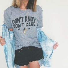Don't Know Don't Care t-shirts are back in stock!!! Get yours now ✖️ (at WWW.SHOPJAWBREAKING.COM)