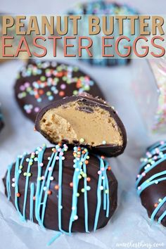 I know that not only my kids love Easter. Like Halloween in the fall, it's the only holiday they're guaranteed to get a lot of candy. Maybe the peanut butter easter eggs that sell so many companies these days are their favorite. Easter Bread Recipe, Easter Recipes, Holiday Recipes, Holiday Ideas, Holiday Foods, Spring Recipes, No Egg Cookies, Easter Cookies, Christmas Cookies