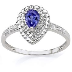 Elegant and special! Get a pretty nice feeling by slipping into this exquisite ring. Fashioned in 0.925 sterling silver with platinum, this ring showcases an exceptional 4.0 x 6.0mm pearl-shaped light Egyptian blue gunuine tanzanite. With double shimmering round diamonds surrounds the gemstone. This will be a nice addition to your jewelry collection. Our Price : $15.99