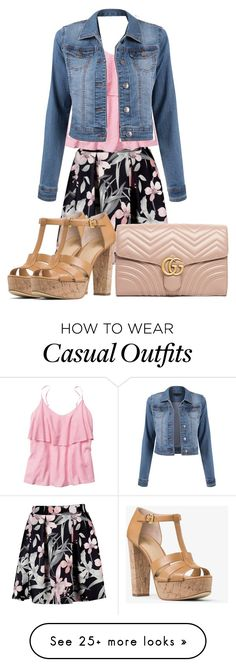 """""""Date Night ❤️❤️❤️"""" by calibeachlyfe on Polyvore featuring Gap, MICHAEL Michael Kors and Gucci"""