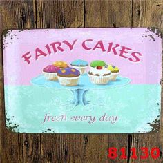 Cake Pie HOT DOG Vintage Tin Sign Hamburger Retro Wall Art Painting Antique Iron Poster Ice Cream Metal Signs