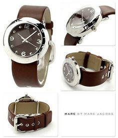 nice Montre pour femme : Marc Jacobs Womens Watch Roller Silver Steel AMY Brown Leather  MBM1139