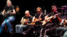 Musician Roger Waters performs with injured service members. Cool.